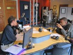 Mayor-Elect Anthony Foxx talking to Mike Collins on Charlotte Talks from WFAE's Spirit Square studio