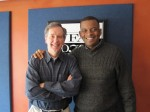 Mayor-Elect Anthony Foxx with Mike Collins at WFAE's Spirit Square studio