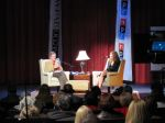 "Mike Collins talks to Jeannette Walls, author of ""The Glass Castle"" at Lenoir Rhyne University"